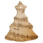 Music Notes Background Christmas Tree Ornament (2 Sides) Back