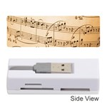 Music Notes Background Memory Card Reader (Stick)  Front
