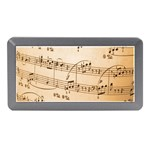 Music Notes Background Memory Card Reader (Mini) Front