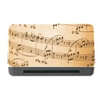 Music Notes Background Memory Card Reader with CF Front
