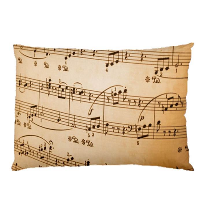 Music Notes Background Pillow Case (Two Sides)