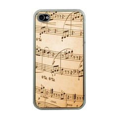Music Notes Background Apple iPhone 4 Case (Clear)