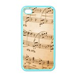 Music Notes Background Apple iPhone 4 Case (Color) Front