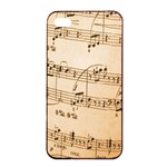 Music Notes Background Apple iPhone 4/4s Seamless Case (Black) Front