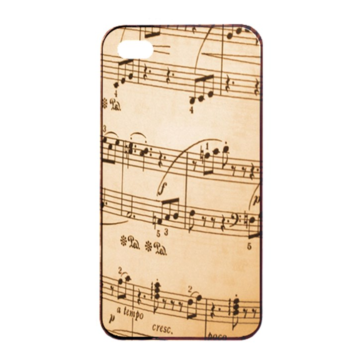 Music Notes Background Apple iPhone 4/4s Seamless Case (Black)