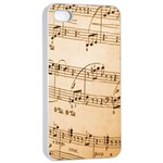 Music Notes Background Apple iPhone 4/4s Seamless Case (White) Front