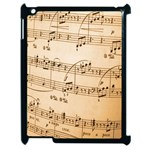Music Notes Background Apple iPad 2 Case (Black) Front