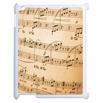 Music Notes Background Apple iPad 2 Case (White) Front