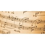 Music Notes Background Twin Hearts 3D Greeting Card (8x4) Front