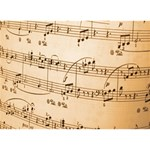 Music Notes Background Heart Bottom 3D Greeting Card (7x5) Front