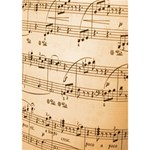 Music Notes Background Heart Bottom 3D Greeting Card (7x5) Inside