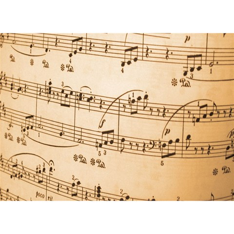 Music Notes Background Birthday Cake 3D Greeting Card (7x5)