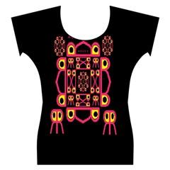 Alphabet Shirt Women s Cap Sleeve Top