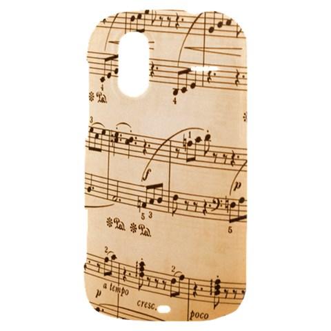 Music Notes Background HTC Amaze 4G Hardshell Case