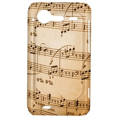 Music Notes Background HTC Incredible S Hardshell Case