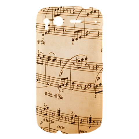 Music Notes Background HTC Desire S Hardshell Case