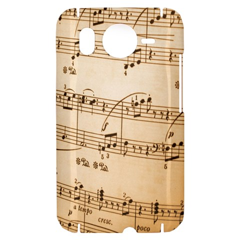 Music Notes Background HTC Desire HD Hardshell Case