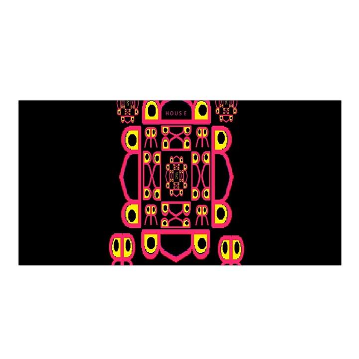 Alphabet Shirt Satin Shawl