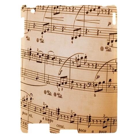 Music Notes Background Apple iPad 2 Hardshell Case