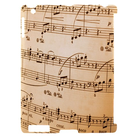Music Notes Background Apple iPad 2 Hardshell Case (Compatible with Smart Cover)
