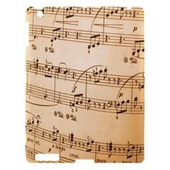 Music Notes Background Apple iPad 3/4 Hardshell Case