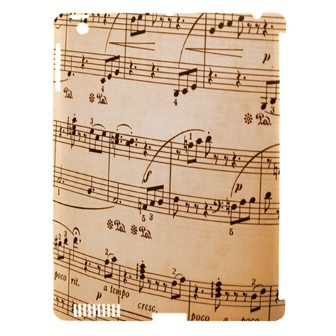 Music Notes Background Apple iPad 3/4 Hardshell Case (Compatible with Smart Cover)