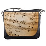 Music Notes Background Messenger Bags Front