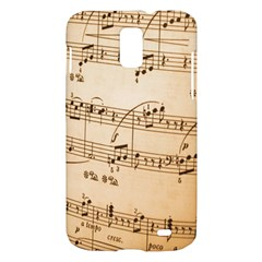 Music Notes Background Samsung Galaxy S II Skyrocket Hardshell Case