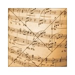 Music Notes Background Acrylic Tangram Puzzle (6  x 6 ) Front