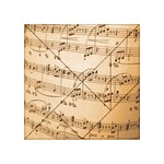 Music Notes Background Acrylic Tangram Puzzle (4  x 4 ) Front