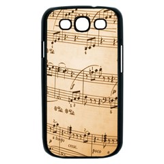 Music Notes Background Samsung Galaxy S III Case (Black)