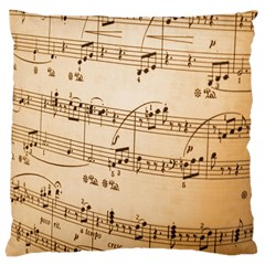 Music Notes Background Large Cushion Case (Two Sides)