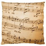 Music Notes Background Large Cushion Case (Two Sides) Front