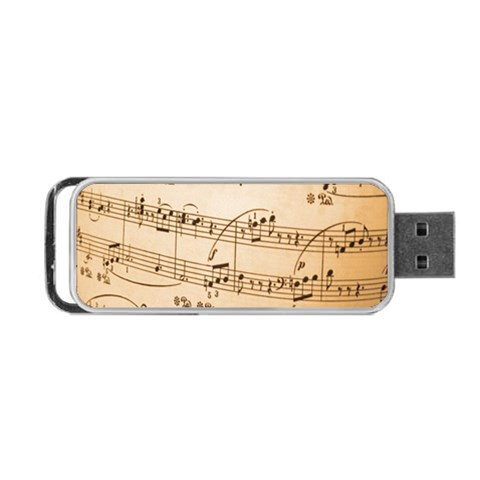 Music Notes Background Portable USB Flash (One Side)