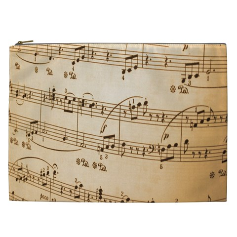 Music Notes Background Cosmetic Bag (XXL)