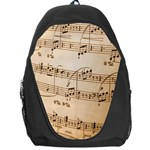 Music Notes Background Backpack Bag Front