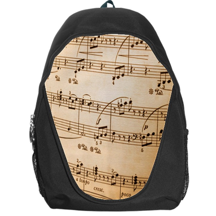 Music Notes Background Backpack Bag