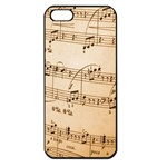 Music Notes Background Apple iPhone 5 Seamless Case (Black) Front