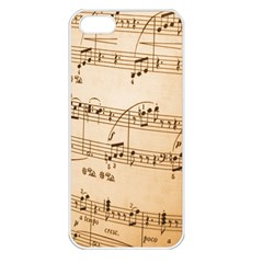 Music Notes Background Apple iPhone 5 Seamless Case (White)