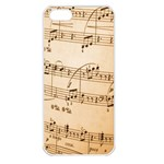 Music Notes Background Apple iPhone 5 Seamless Case (White) Front