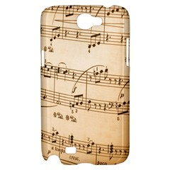 Music Notes Background Samsung Galaxy Note 2 Hardshell Case