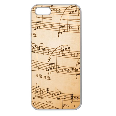 Music Notes Background Apple Seamless iPhone 5 Case (Clear)