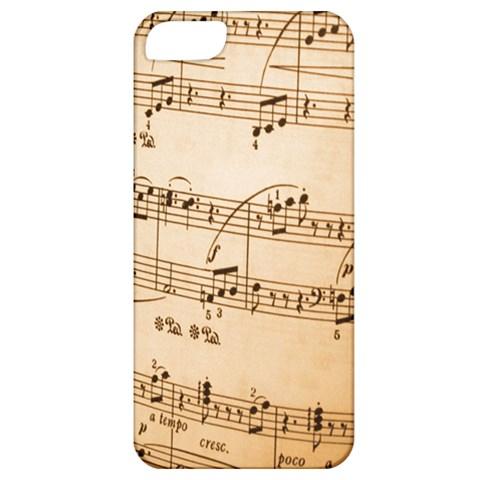 Music Notes Background Apple iPhone 5 Classic Hardshell Case