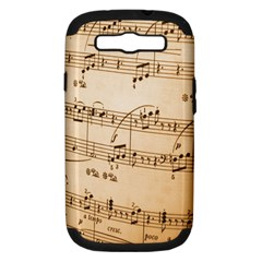 Music Notes Background Samsung Galaxy S III Hardshell Case (PC+Silicone)
