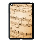 Music Notes Background Apple iPad Mini Case (Black) Front