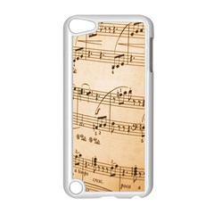 Music Notes Background Apple iPod Touch 5 Case (White)
