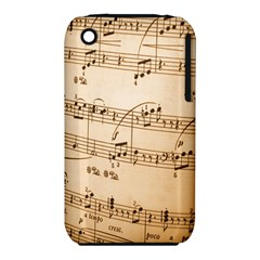 Music Notes Background Apple iPhone 3G/3GS Hardshell Case (PC+Silicone)