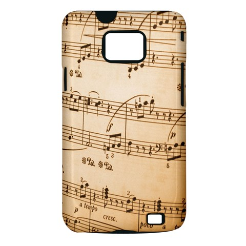 Music Notes Background Samsung Galaxy S II i9100 Hardshell Case (PC+Silicone)