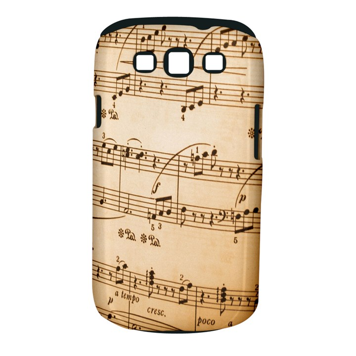 Music Notes Background Samsung Galaxy S III Classic Hardshell Case (PC+Silicone)
