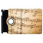 Music Notes Background Apple iPad 2 Flip 360 Case Front